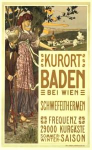 Altes Werbeplakat von Baden