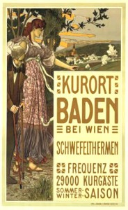 Promotional poster for the spa town of Baden near Vienna